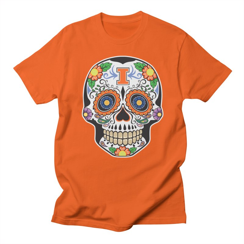 Illini Calavera Men's T-Shirt by LLAA's Artist Shop
