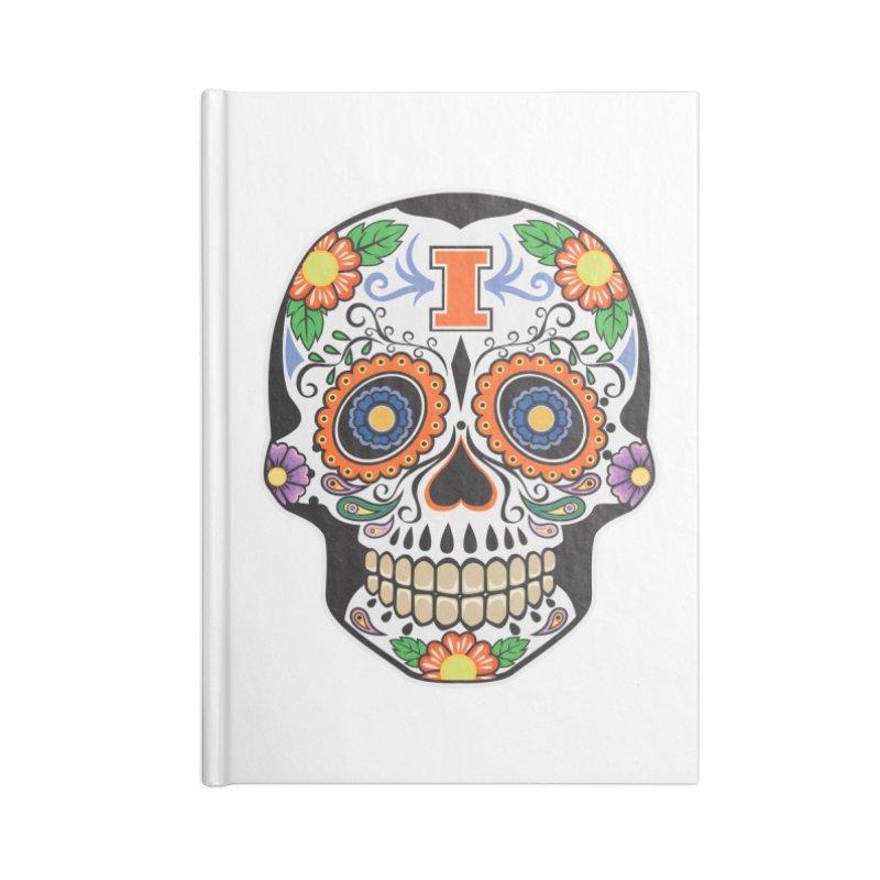 Illini Calavera Accessories Lined Journal Notebook by LLAA's Artist Shop