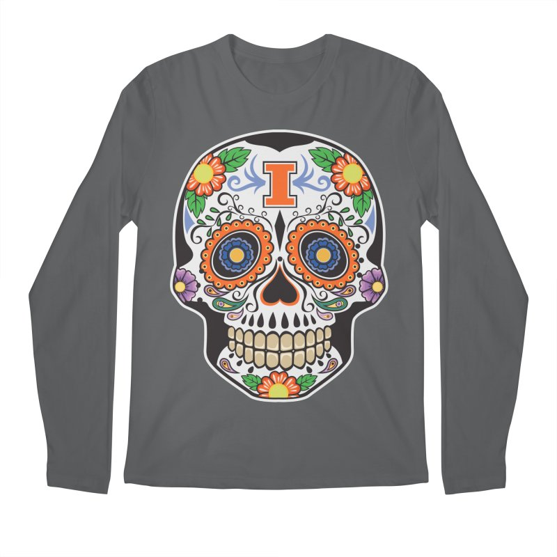Illini Calavera Men's Regular Longsleeve T-Shirt by LLAA's Artist Shop