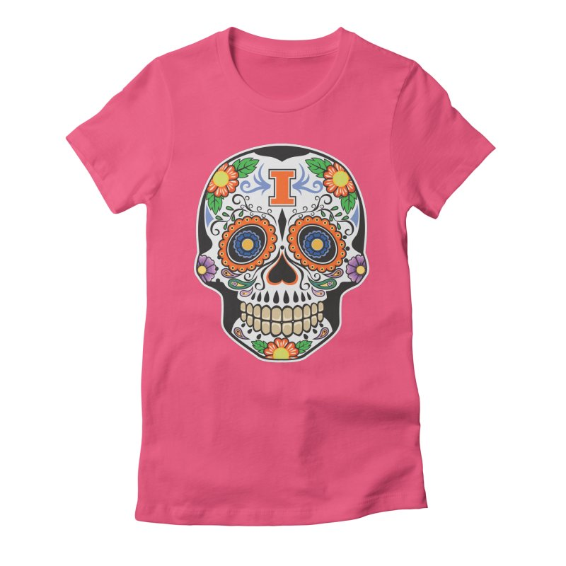 Illini Calavera Women's Fitted T-Shirt by LLAA's Artist Shop