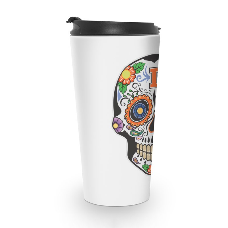 Illini Calavera Accessories Travel Mug by LLAA's Artist Shop