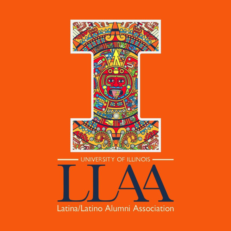 LLAA - Aztec Calendar - Orange Background by LLAA's Artist Shop
