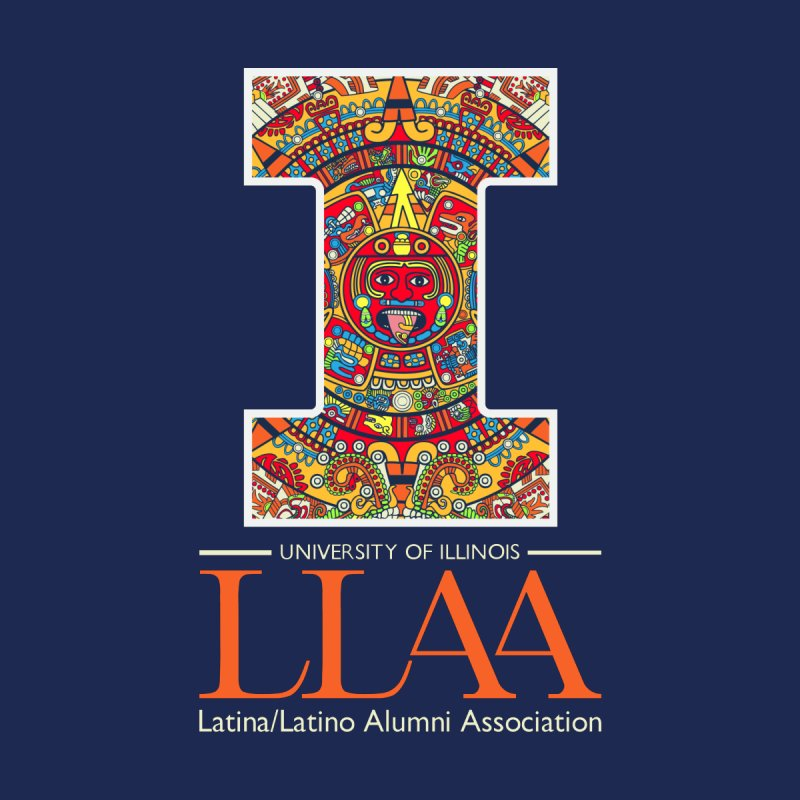 LLAA - Aztec Calendar - Blue Background by LLAA's Artist Shop