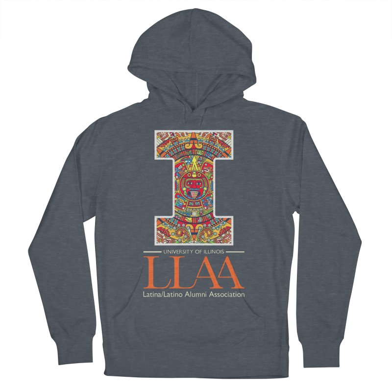 LLAA - Aztec Calendar - Blue Background Women's French Terry Pullover Hoody by LLAA's Artist Shop