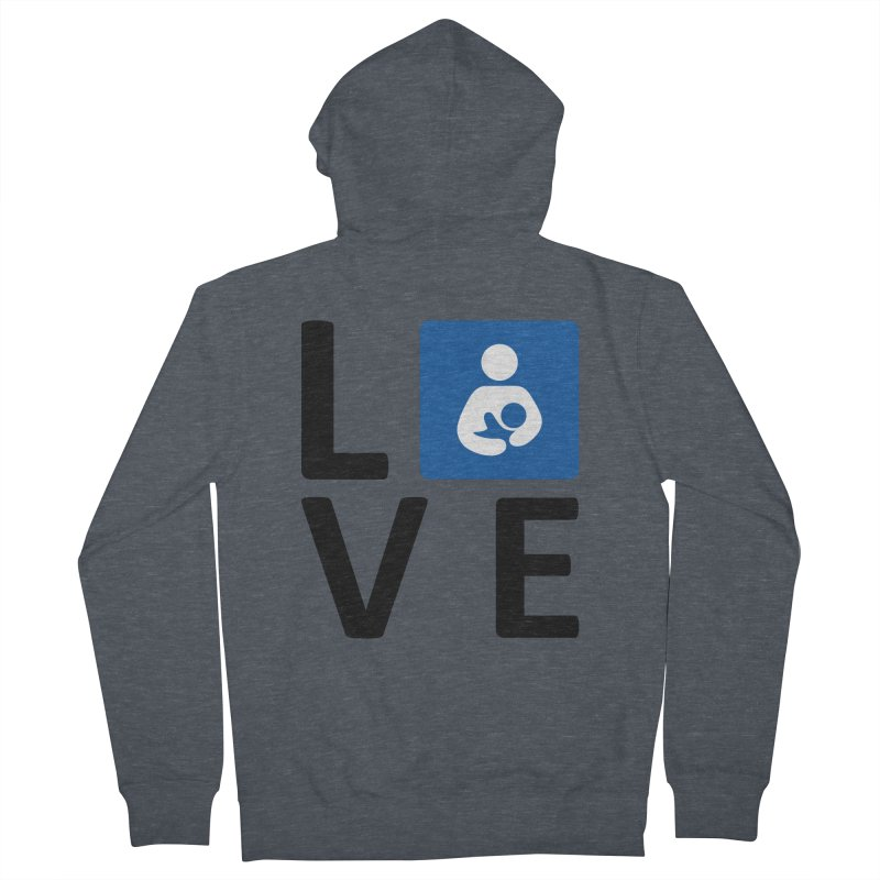 Love in Men's French Terry Zip-Up Hoody Heather Navy Denim by LLLPacificHorizons Shop