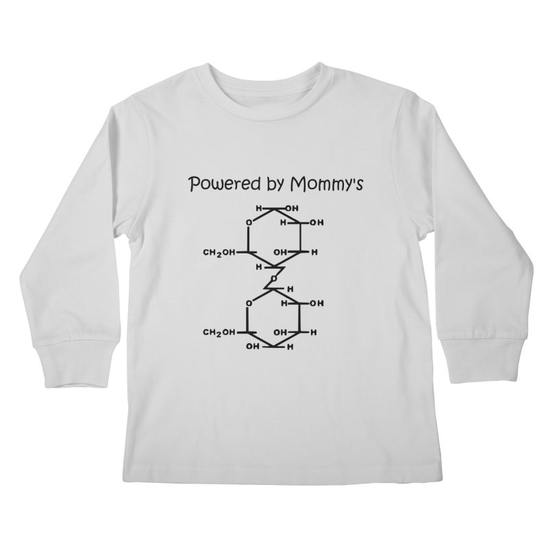 Powered by Mommy's Milk in Kids Longsleeve T-Shirt Heather Grey by LLLPacificHorizons Shop