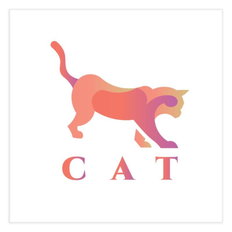 CAT Home Fine Art Print by LUVIT