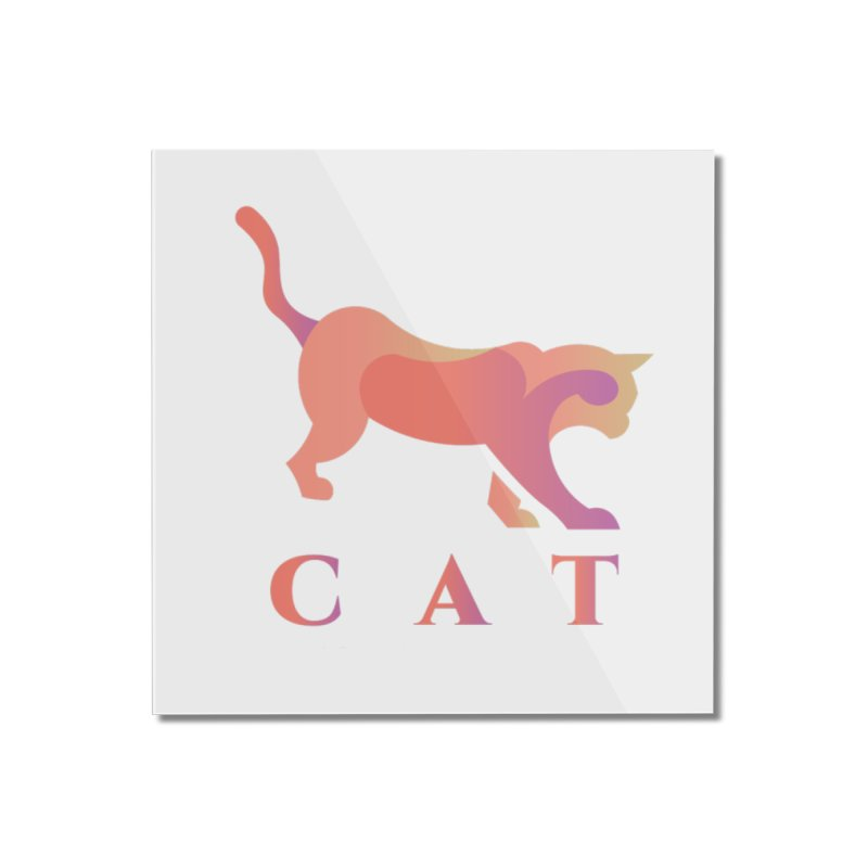 CAT Home Mounted Acrylic Print by LUVIT