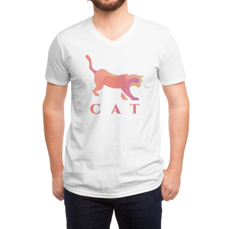 CAT Men's V-Neck by LUVIT
