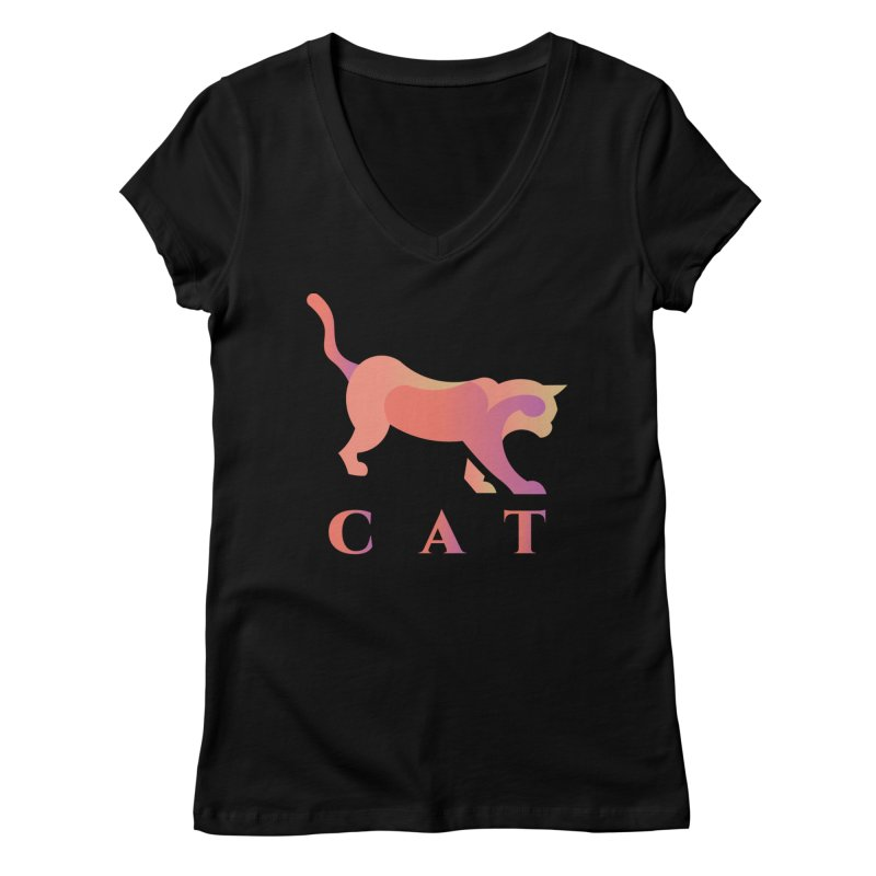 CAT Women's V-Neck by LUVIT