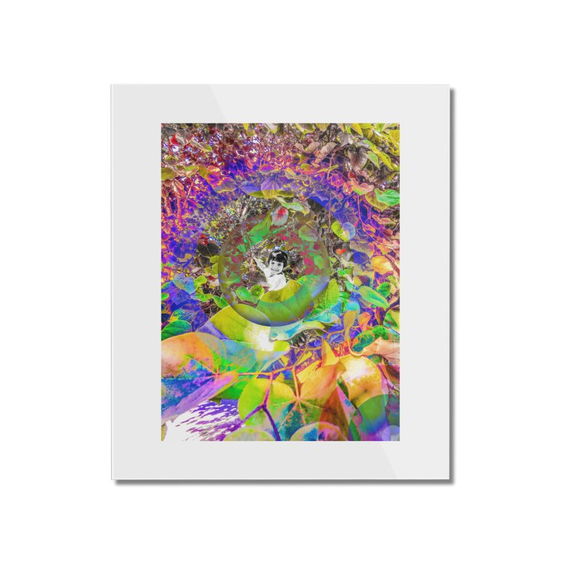 Boy In the Tree Home Mounted Acrylic Print by LVA FABRIKA9