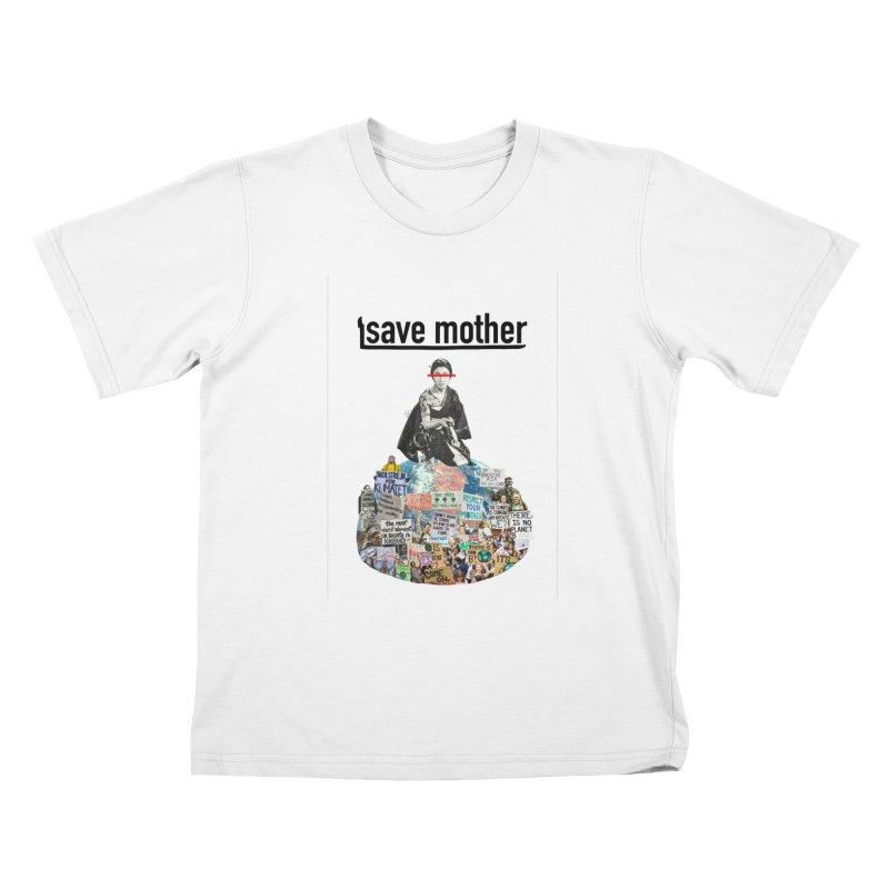 SAVE MOTHER Kids T-Shirt by LVA FABRIKA9