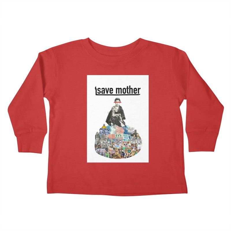 SAVE MOTHER Kids Toddler Longsleeve T-Shirt by LVA FABRIKA9