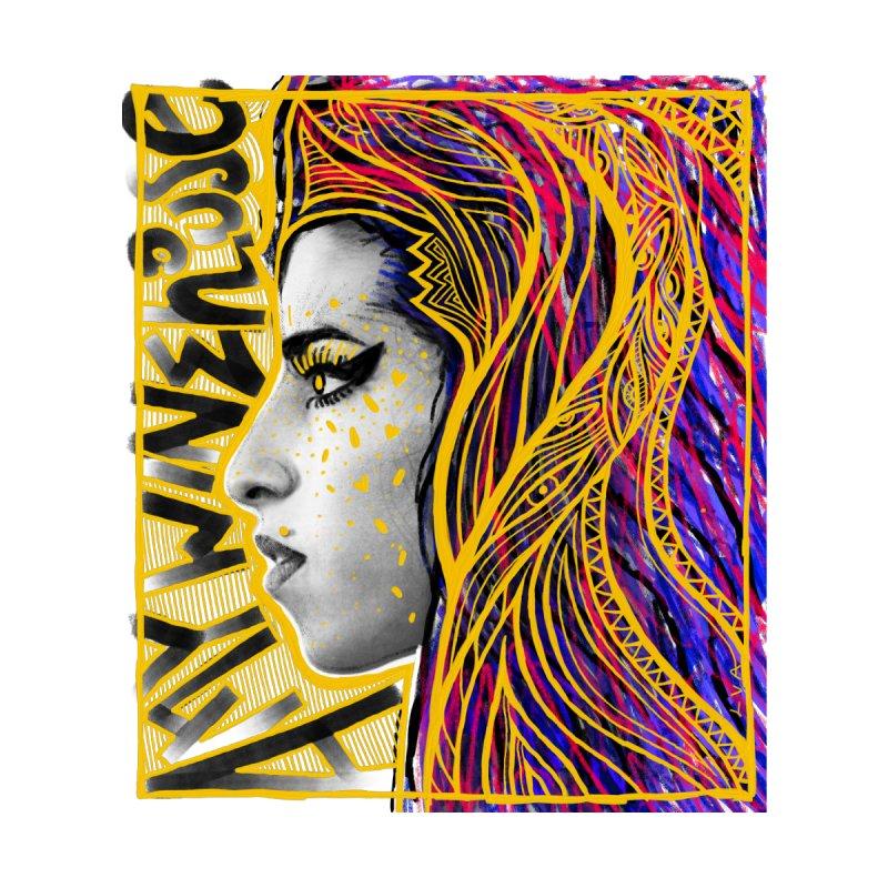 Amy Winehouse Men's T-Shirt by LVA FABRIKA9