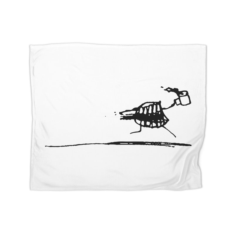 Stupid Running Mouth Home Fleece Blanket Blanket by Lose Your Reputation