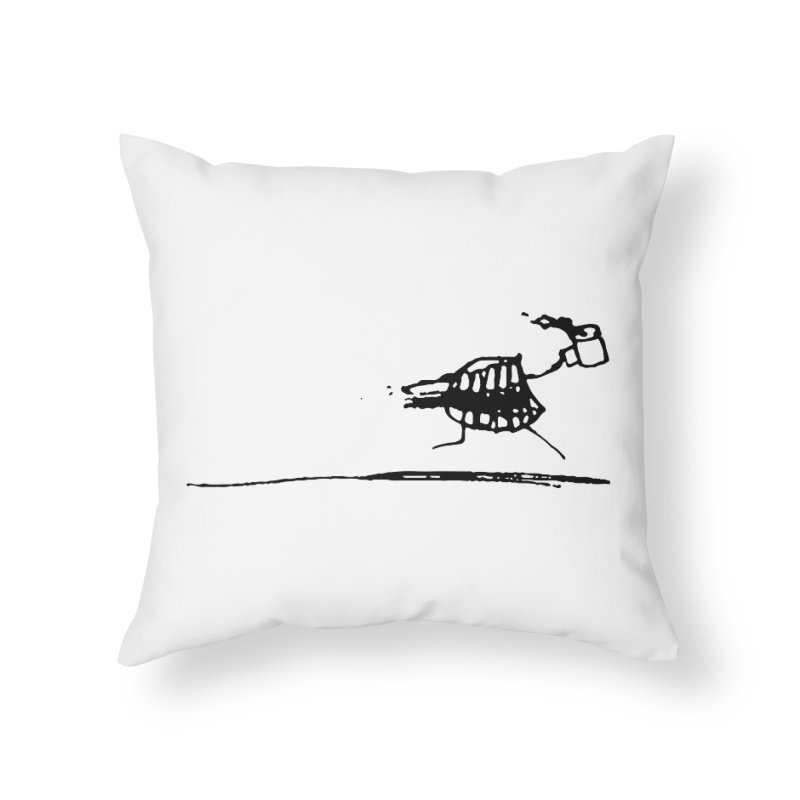 Stupid Running Mouth Home Throw Pillow by Lose Your Reputation