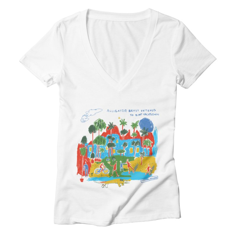 Alligator Beast Women's V-Neck by Lose Your Reputation