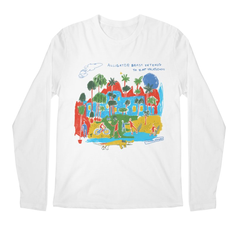 Alligator Beast Men's Longsleeve T-Shirt by Lose Your Reputation