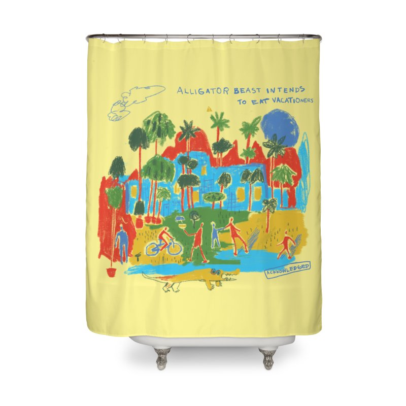 Alligator Beast Home Shower Curtain by Lose Your Reputation