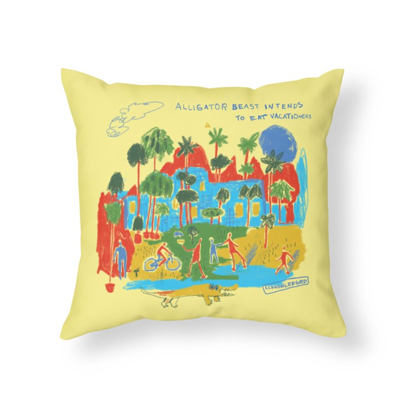 Alligator Beast Home Throw Pillow by Lose Your Reputation
