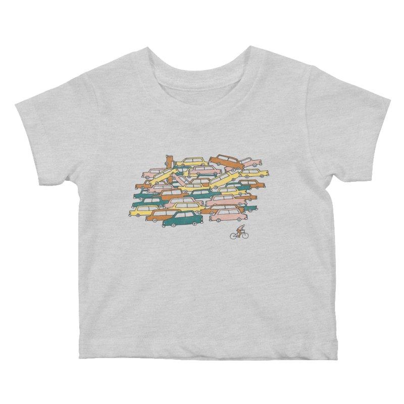 Bike Lane Kids Baby T-Shirt by Lose Your Reputation