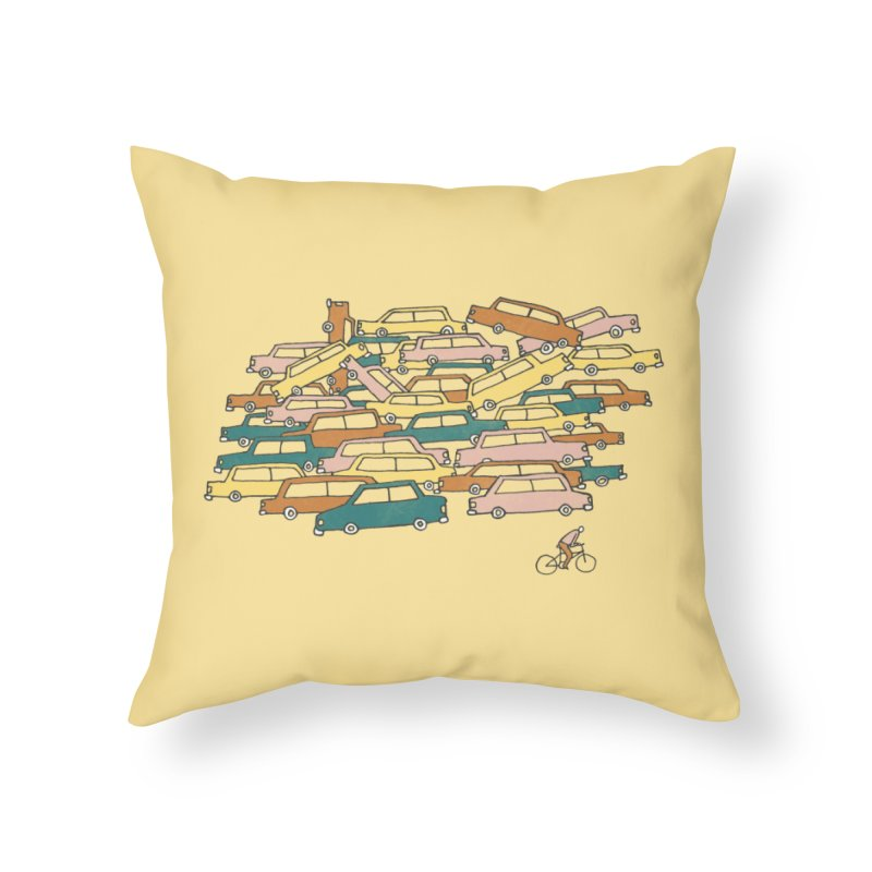 Bike Lane Home Throw Pillow by Lose Your Reputation