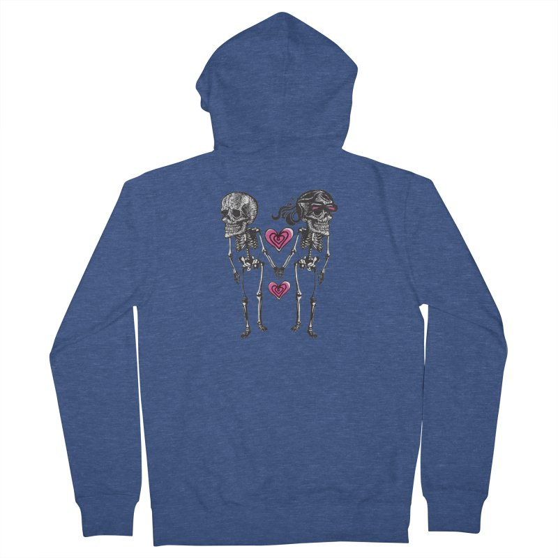 Till death do us part Women's French Terry Zip-Up Hoody by Lads of Fortune Artist Shop