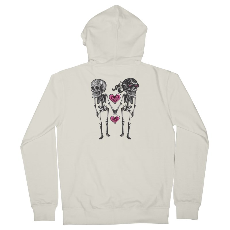 Till death do us part Men's French Terry Zip-Up Hoody by Lads of Fortune Artist Shop
