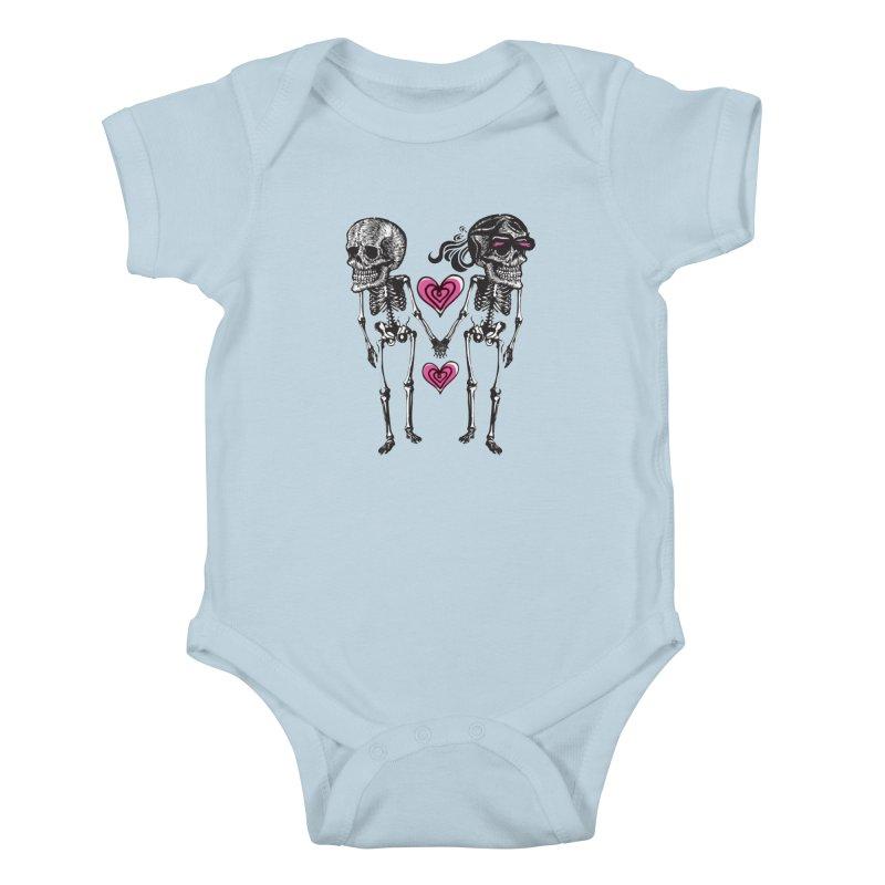 Till death do us part Kids Baby Bodysuit by Lads of Fortune Artist Shop