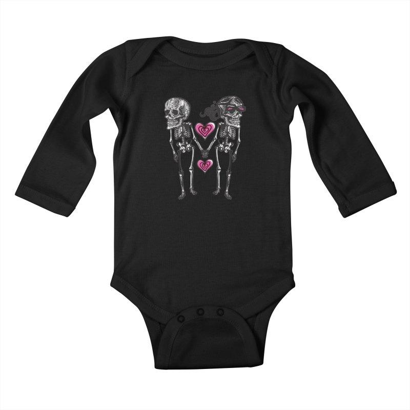 Till death do us part Kids Baby Longsleeve Bodysuit by Lads of Fortune Artist Shop