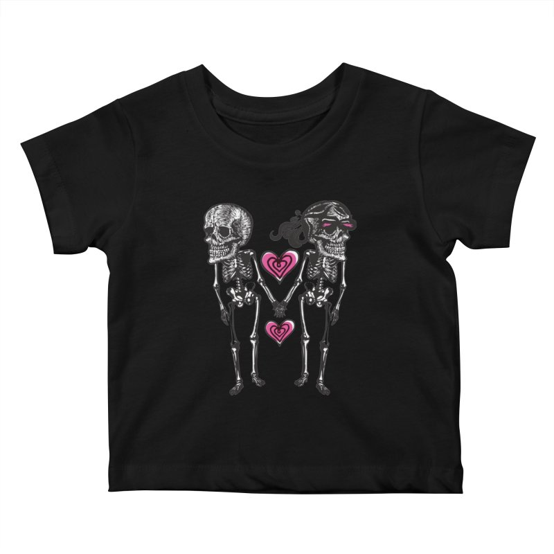 Till death do us part Kids Baby T-Shirt by Lads of Fortune Artist Shop