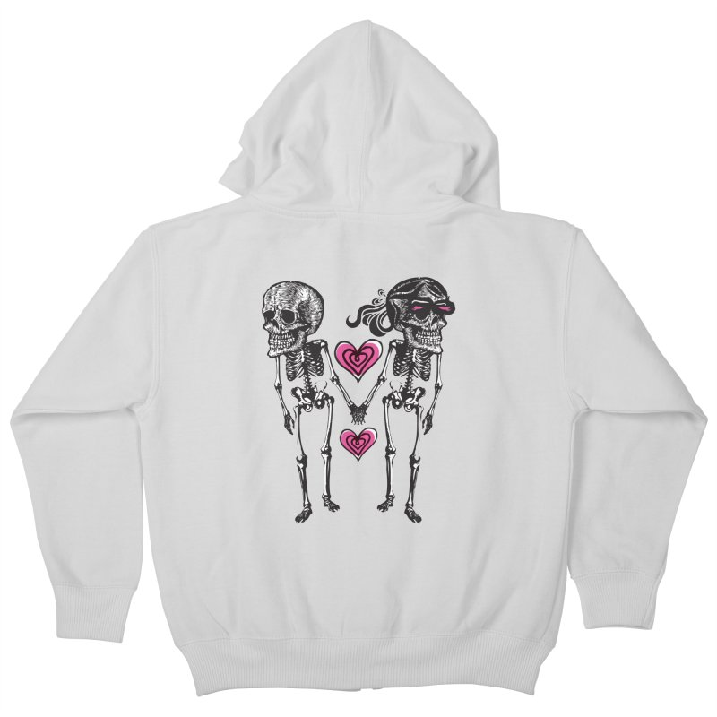 Till death do us part Kids Zip-Up Hoody by Lads of Fortune Artist Shop