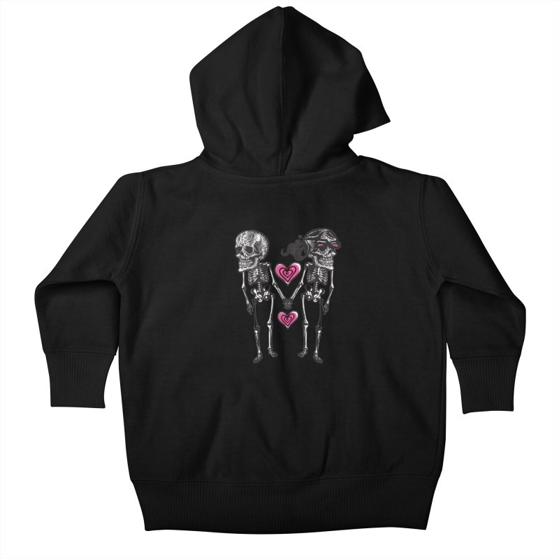 Till death do us part Kids Baby Zip-Up Hoody by Lads of Fortune Artist Shop