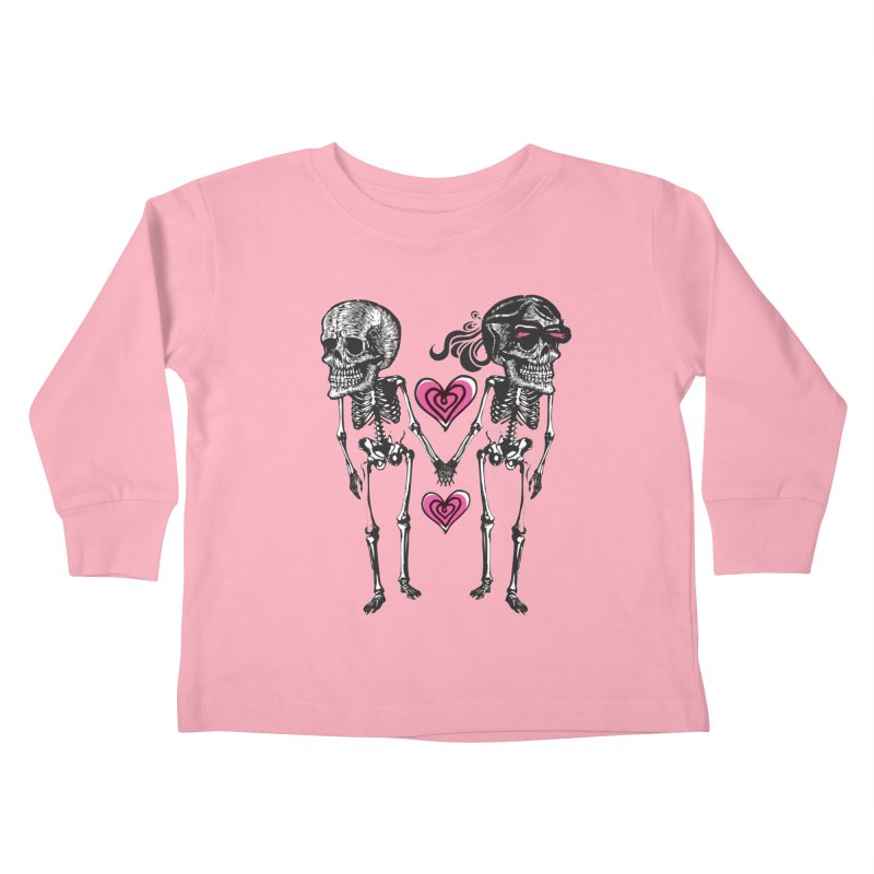Till death do us part Kids Toddler Longsleeve T-Shirt by Lads of Fortune Artist Shop