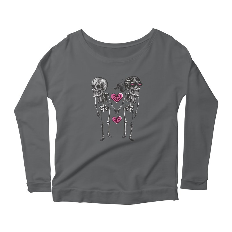 Till death do us part Women's Longsleeve Scoopneck  by Lads of Fortune Artist Shop