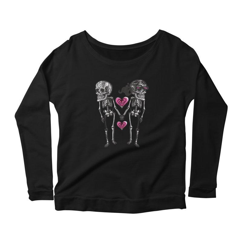 Till death do us part Women's Scoop Neck Longsleeve T-Shirt by Lads of Fortune Artist Shop
