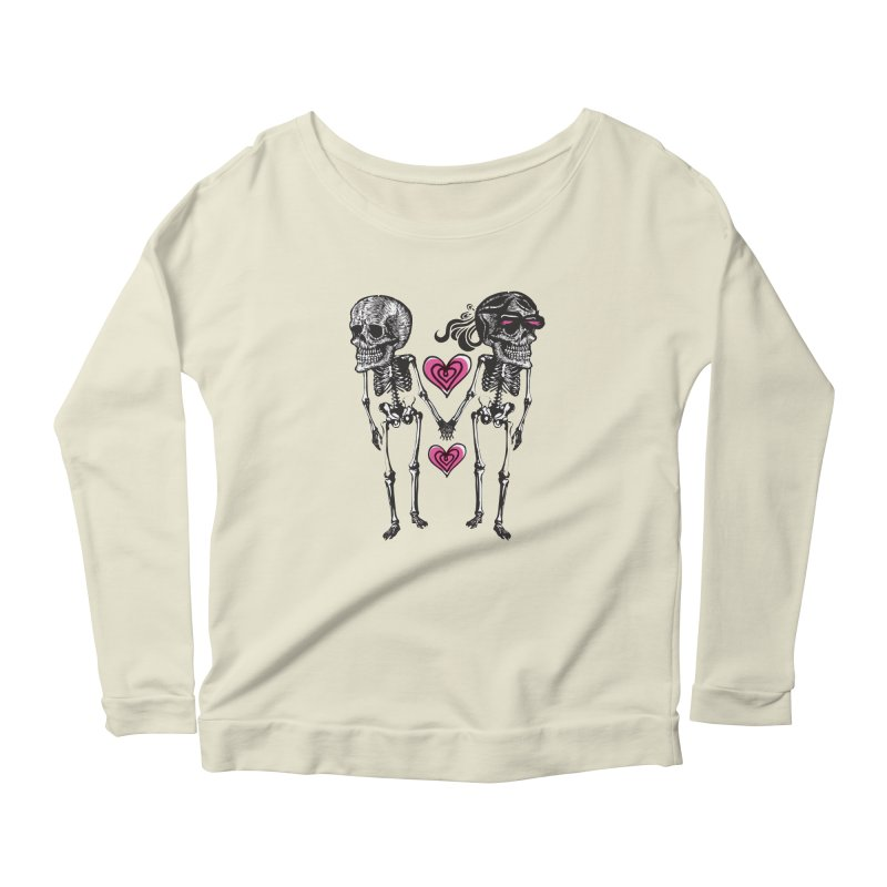 Till death do us part Women's Scoop Neck Longsleeve T-Shirt by Lads of Fortune Artist Shop