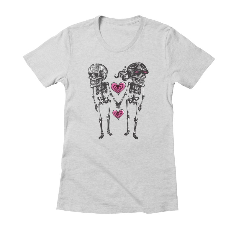 Till death do us part Women's Fitted T-Shirt by Lads of Fortune Artist Shop