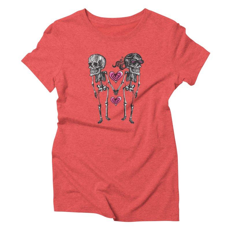 Till death do us part Women's Triblend T-shirt by Lads of Fortune Artist Shop