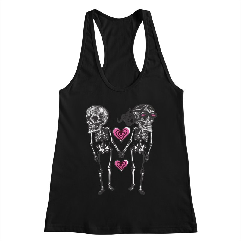 Till death do us part Women's Racerback Tank by Lads of Fortune Artist Shop