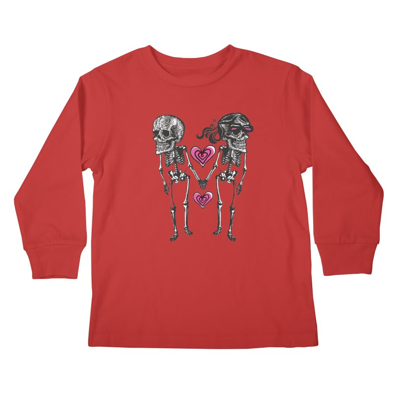 Till death do us part Kids Longsleeve T-Shirt by Lads of Fortune Artist Shop