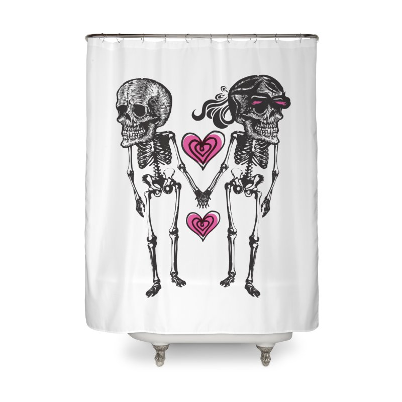 Till death do us part Home Shower Curtain by Lads of Fortune Artist Shop