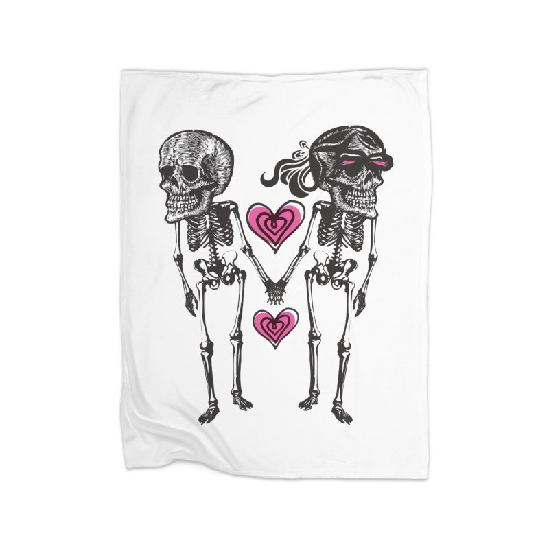Till death do us part Home Fleece Blanket Blanket by Lads of Fortune Artist Shop