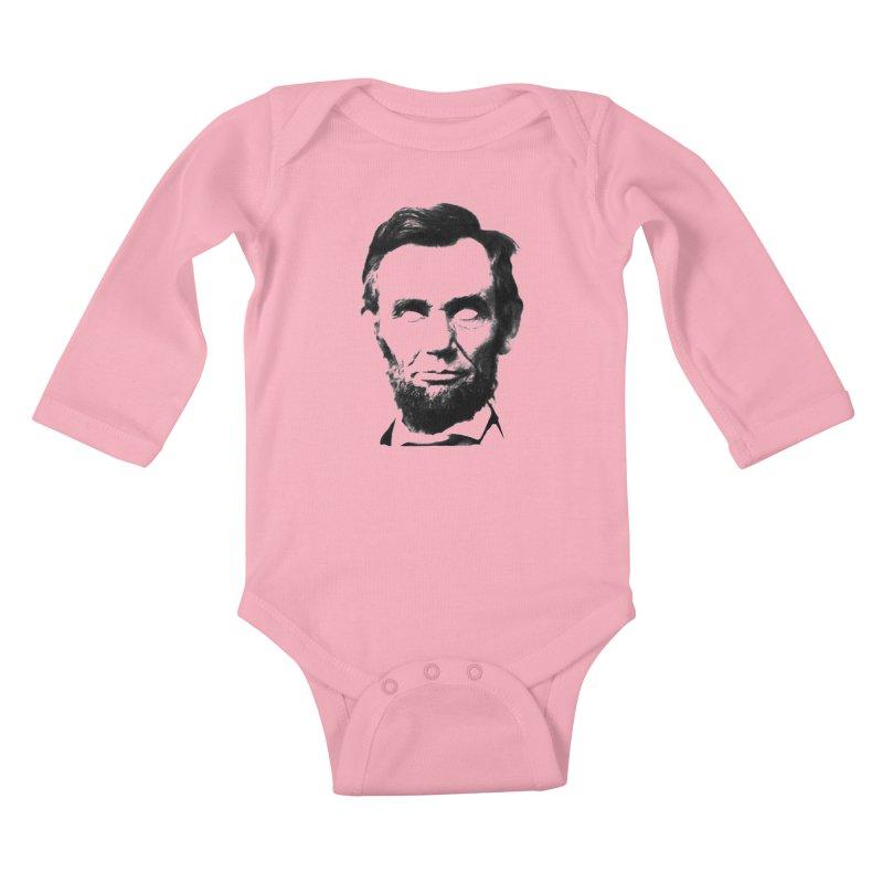Abe Kids Baby Longsleeve Bodysuit by Lads of Fortune Artist Shop