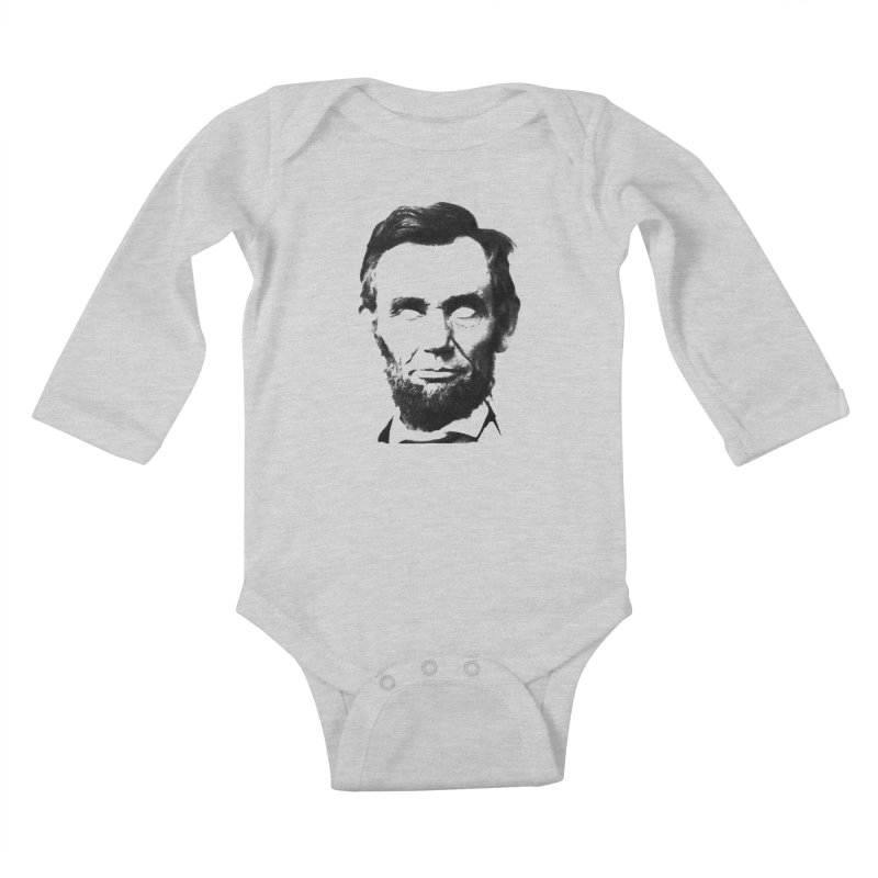 Abe Kids Baby Longsleeve Bodysuit by Lads of Fortune Artist Shop