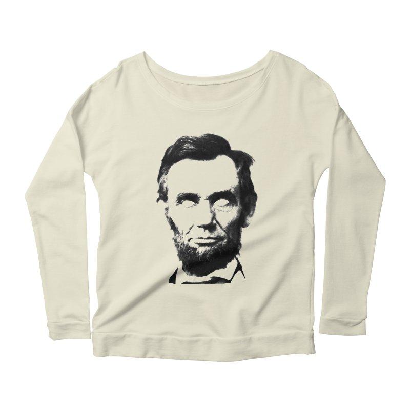 Abe Women's Scoop Neck Longsleeve T-Shirt by Lads of Fortune Artist Shop
