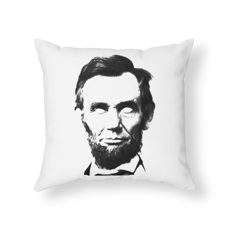 Abe Home Throw Pillow by Lads of Fortune Artist Shop