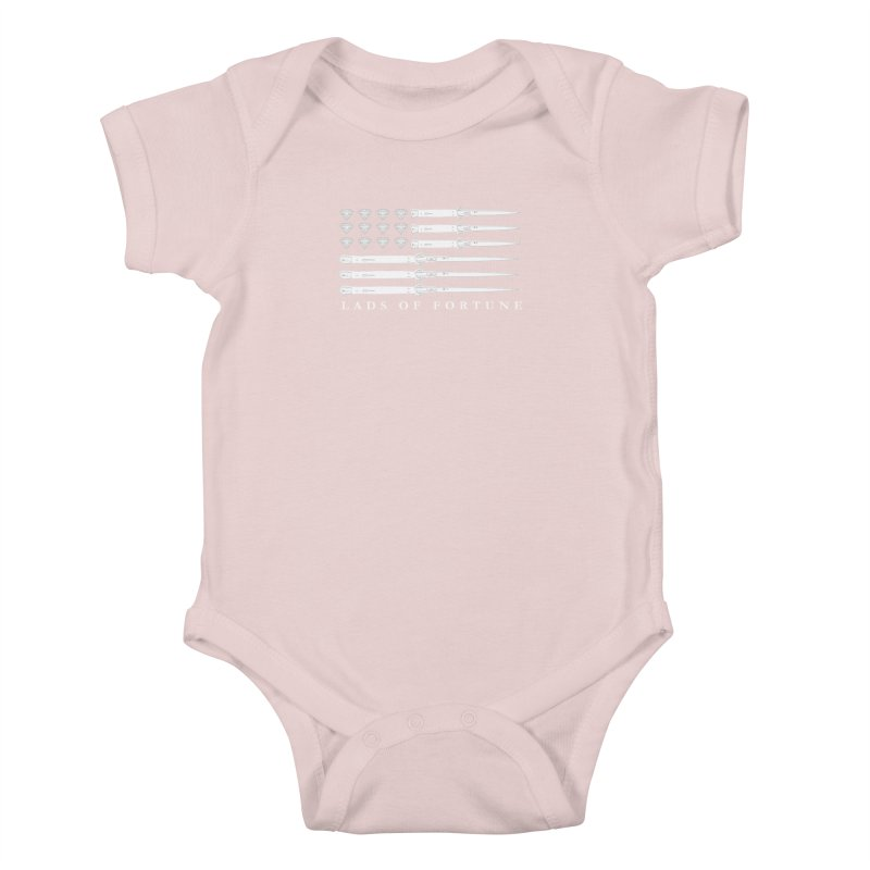 Diamond And Daggers American Flag Kids Baby Bodysuit by Lads of Fortune Artist Shop