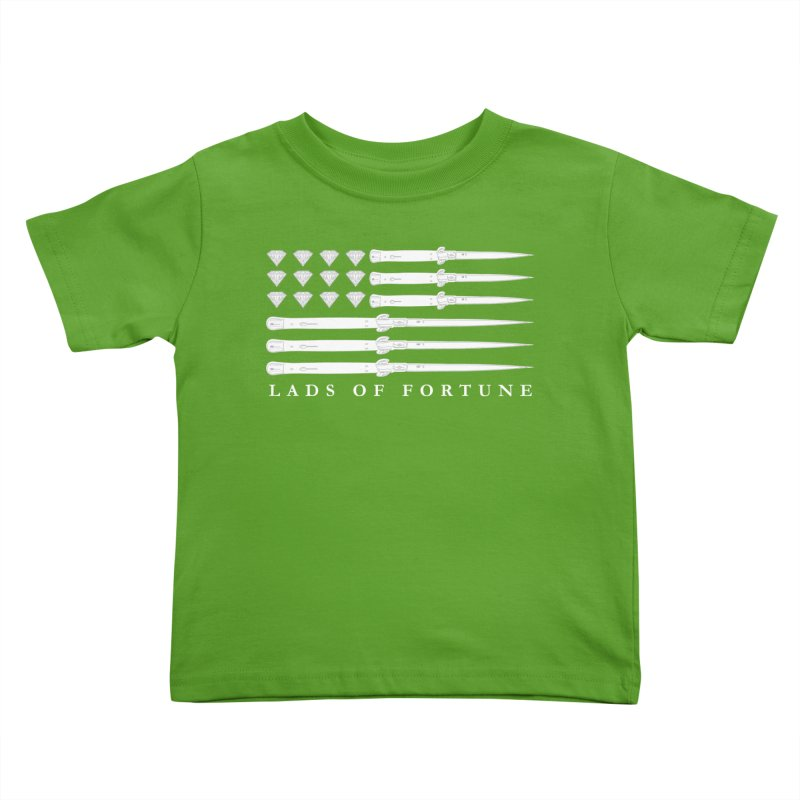 Diamond And Daggers American Flag Kids Toddler T-Shirt by Lads of Fortune Artist Shop