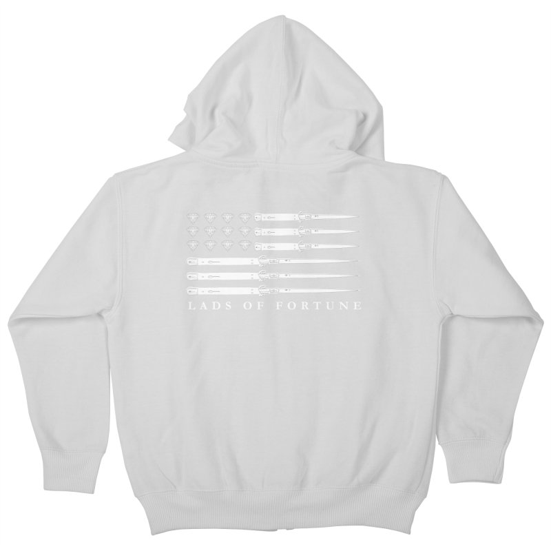 Diamond And Daggers American Flag Kids Zip-Up Hoody by Lads of Fortune Artist Shop